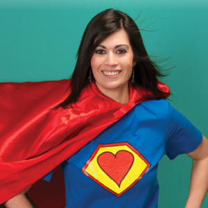 stock photo of woman dressed as superman